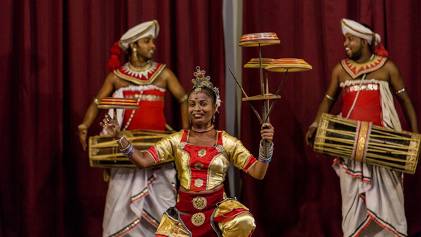 A cultural performance in Kandy