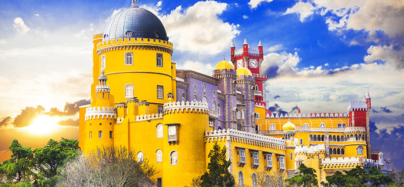 The Palace of Pena in Sintra Portugal