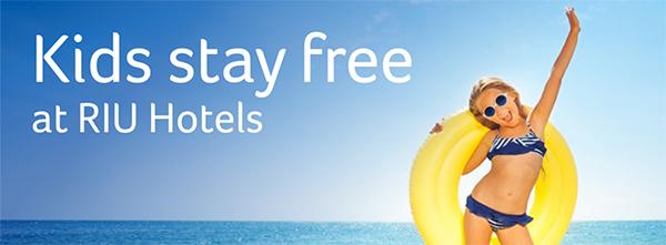 Kids stay free at RIU Hotels