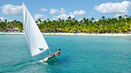 person sailing in Punta Cana