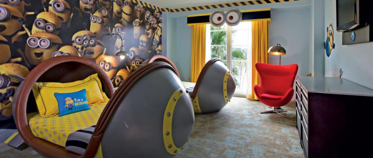 Dispicable Me Kids Suite at Loews Portifino Bay