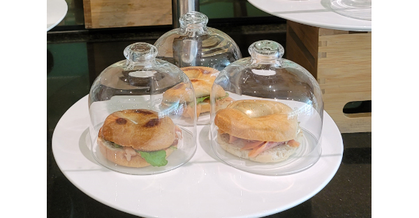 sandwhiches in glass